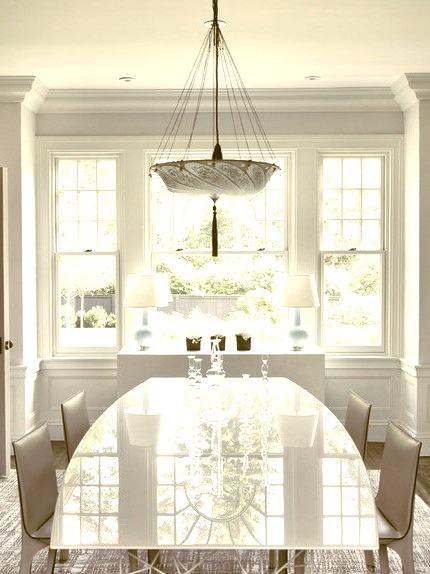 Green Gambrel Dining Room